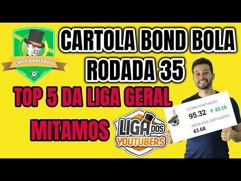 CARTOLA FC 2018 RODADA 35 MITAMOS ! TOP 5 NA LIGA DOS YOUTUBERS ! DICAS PARA MITAR