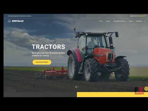 Rentallo - Farming Equipment & Machinery Rentals WordPress Theme TMT