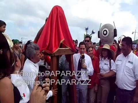 Ernesto Chavana - Devela Busto de Marciano en Cd. Madero - DIA MARCIANO