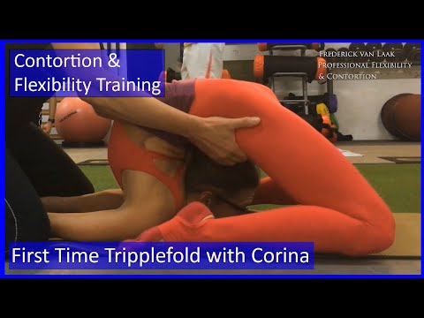 Contortion Training by Flexyart 138: First Tripplefold  - Also for Yoga, Poledance, Ballet, Dance