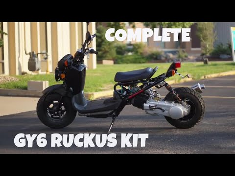 Honda Ruckus GY6 conversion kit (stock look) - YouTube