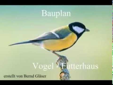 Bauplan Vogelfutterhaus Youtube