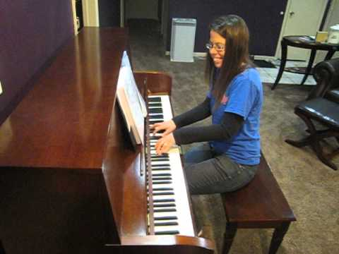 Impromptu playing of my husband's favorite song on the day we got our piano.  Big smile!!!