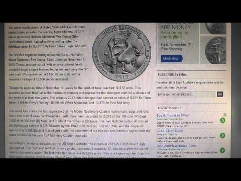 2013 American Silver Eagles, officially a record year, and other bullion news