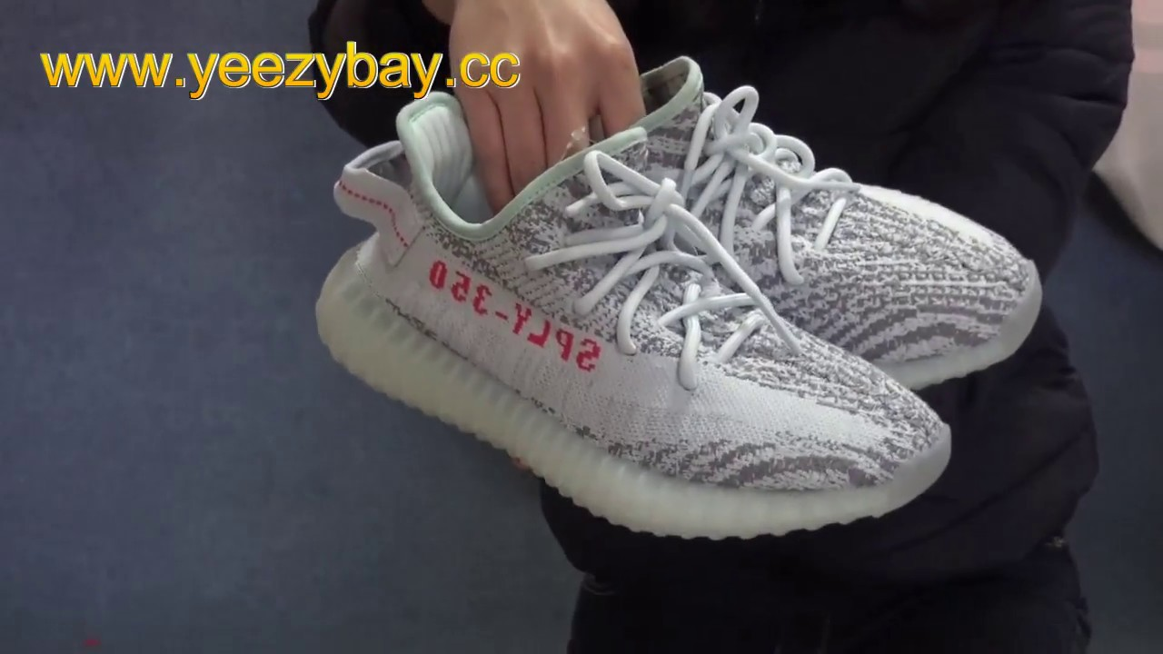9879293992ec0 Authentic Adidas Yeezy V2 Blue Tint Review + UV Light Test - YouTube