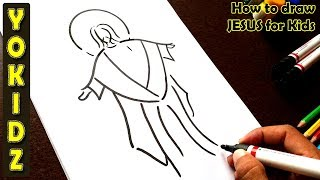 How to draw JESUS for kids