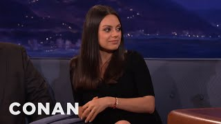 Mila Kunis & Ashton Kutcher's Wedding Rings Are From Etsy  - CONAN on TBS by : Team Coco
