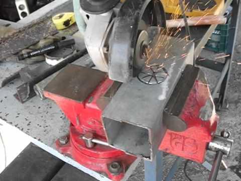 C mo hacer agujeros redondos con amoladora o radial con - Discos para ingletadora ...