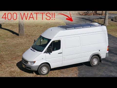 Installing SOLAR On Our Sprinter Van - Van Life