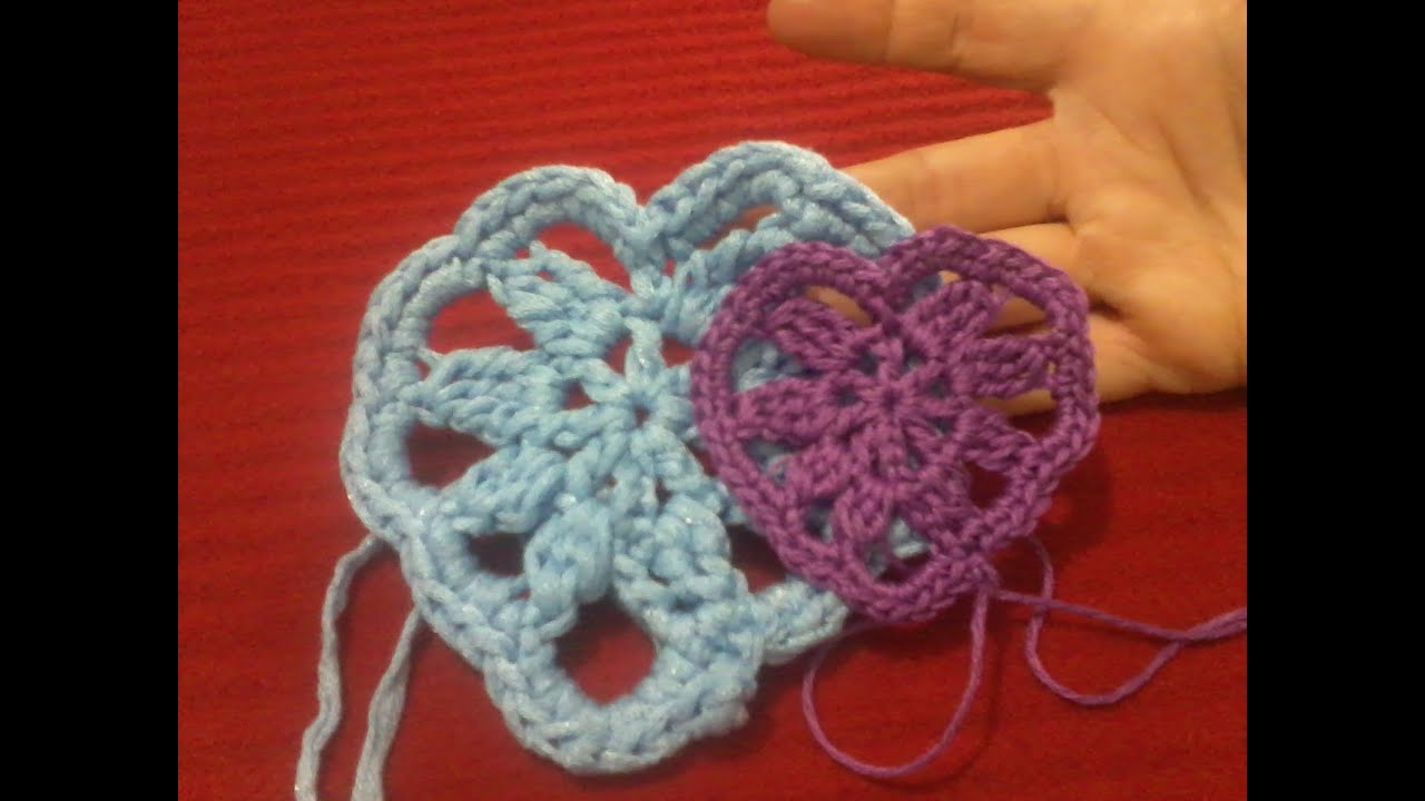 Tutorial Uncinetto Cuore Amigurumi : Cuore alluncinetto con schema Crochet heart tutorial ...