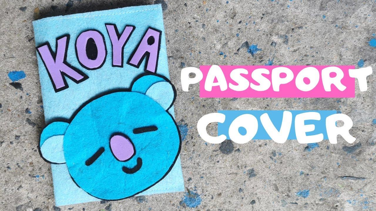 Tự làm vỏ passport hình Gấu 🐨    BTS Line Friends
