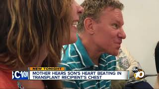 Mother hears son's heart beating in transplant recipient's chest
