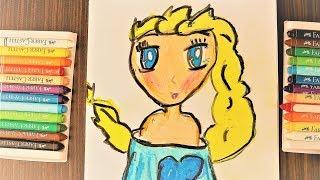 Как нарисовать эльзу \ How to draw Elsa \ Elsa nasıl çizilir