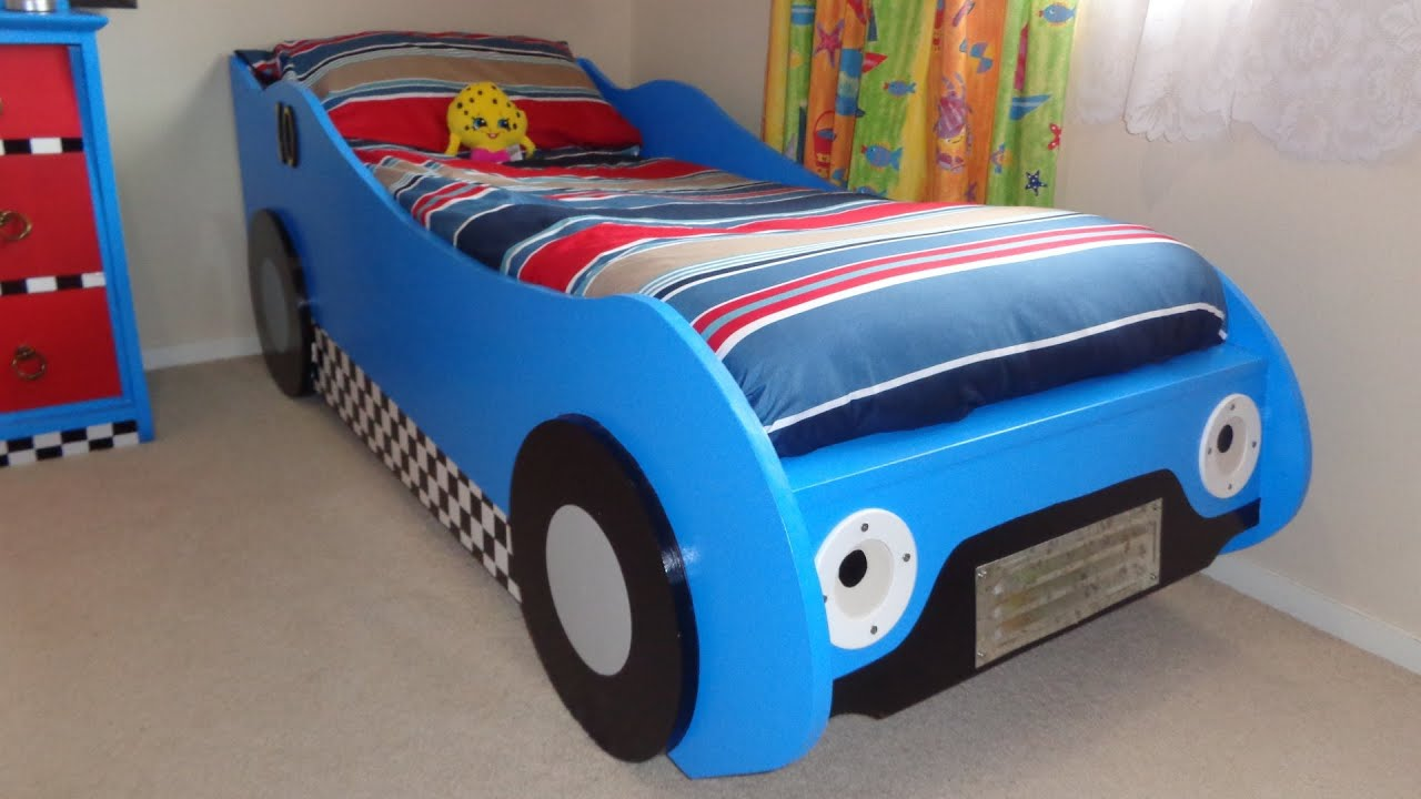 DIY Kids39 Racing Car Bed YouTube