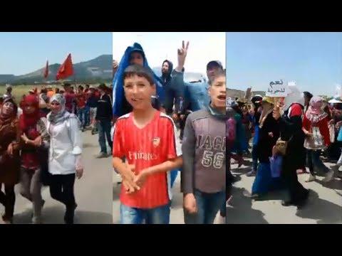 انتفاضة سكان قرية تلارواق بالريف.. مسيرة حاشدة على الأقدم نحو الحسيمة