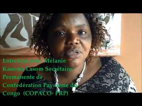Mélanie Kasoma Lasom Secrétaire Permanente de Confédération Paysanne du Congo
