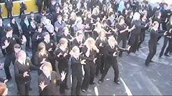 Flashmob at Alfreton Grange Arts College