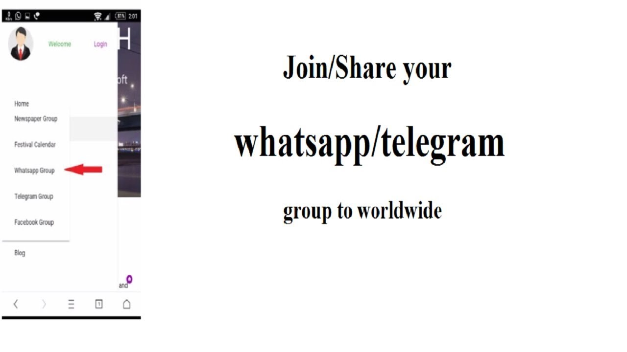 how to join/share best whatsapp/telegram groups