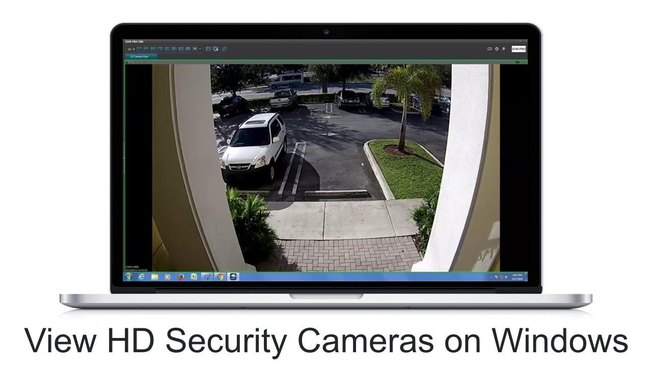 Windows CCTV DVR Software 1080p HD Security Camera View