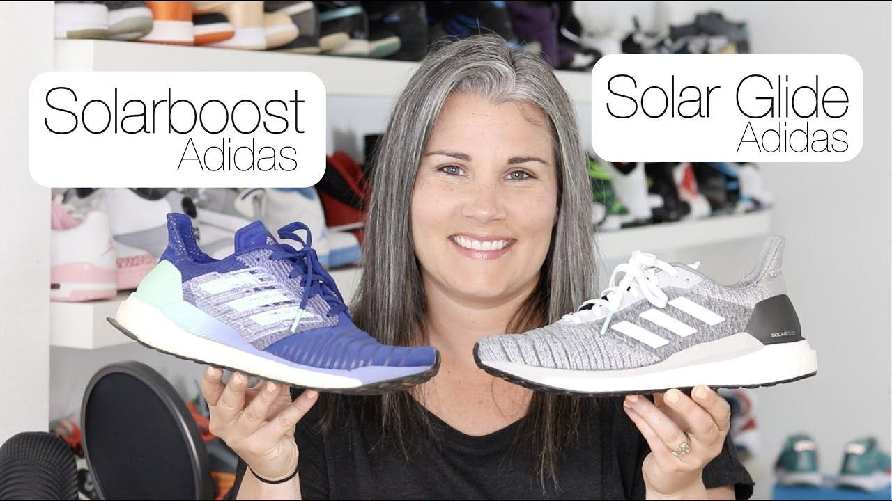 8945390ba5f Comparison  Adidas SOLAR Boost vs. Solar GLIDE - YouTube