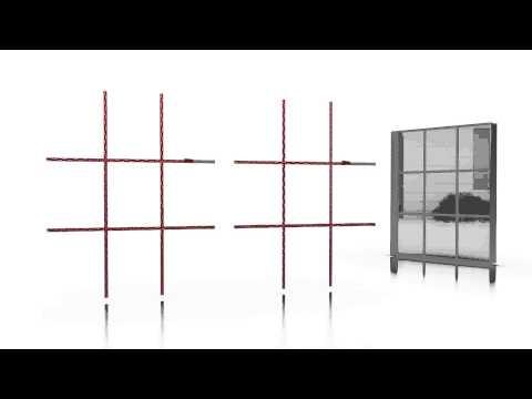 3M™ VHB™ Tape Application Animation Window Muntin Bar Attaching