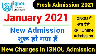IGNOU Released New Admission Form January 2021 | IGNOU Admission 2021 January | Admission From 2021