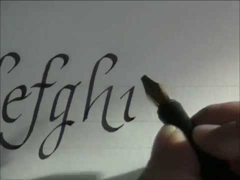 calligraphy - how to write calligraphy letters - italic letters for beginners