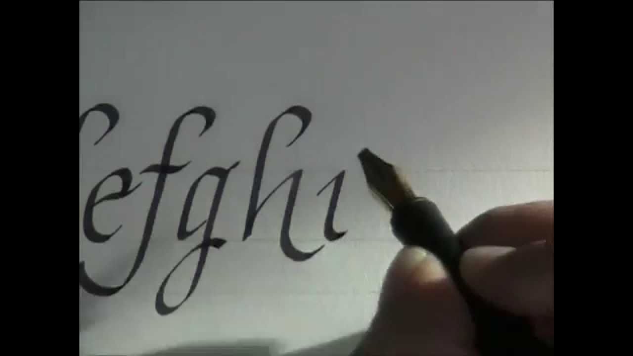 Calligraphy How To Write Calligraphy Letters Italic