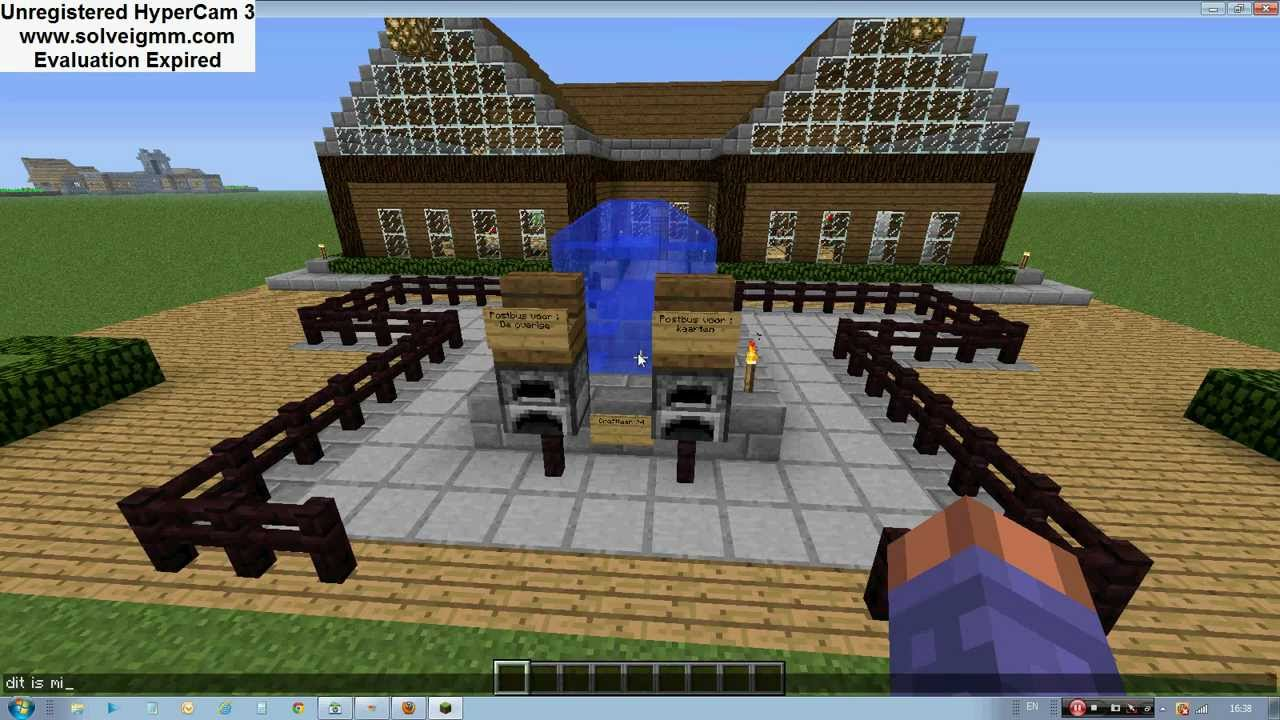 Rondleiding huis hoe je een huis maakt minecraft youtube for Huis bouwen stappen