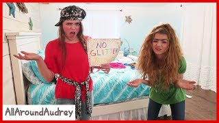 Gertie and Therma Spend 24 Hours in Audrey's Room! / AllAroundAudrey