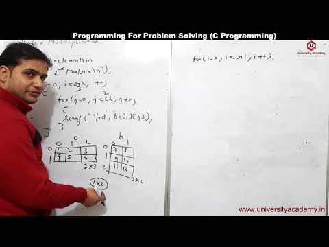 PPS83:C Program To Multiply Two Matrices Using Multi-dimensional Arrays