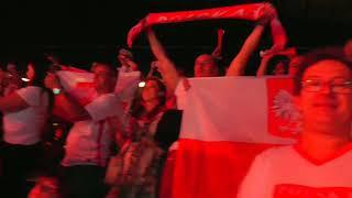 Polski doping, hymn Polski, ostatnia piłka meczu Polska - Holandia 3 - 0.