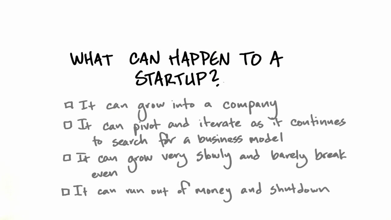 Startup Outcomes - How to Build a Startup