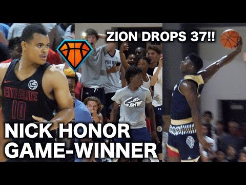 Zion Williamson Drops 37 & Nick Honor Hits a GAME-WINNER in Front of INSANE Crowd at #BOTS!!