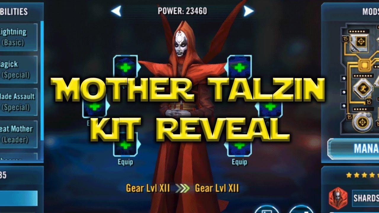 Star Wars: Galaxy Of Heroes - Mother Talzin Kit Nightsister Rework