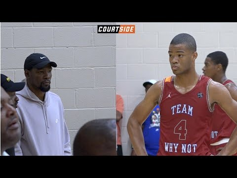 Kevin Durant Tunes in to Watch Cassius Stanley Drop 22 Points @ The Peach Jam!