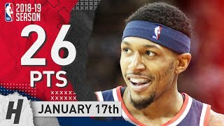 Bradley Beal Full Highlights Wizards vs Knicks 2019.01.17 - 26 Pts, 4 Ast, 9 Rebounds!