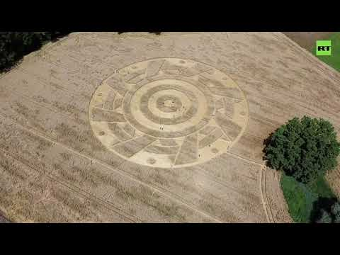 Alien Signs? | 'Mysterious' crop circle appears on Bavarian field