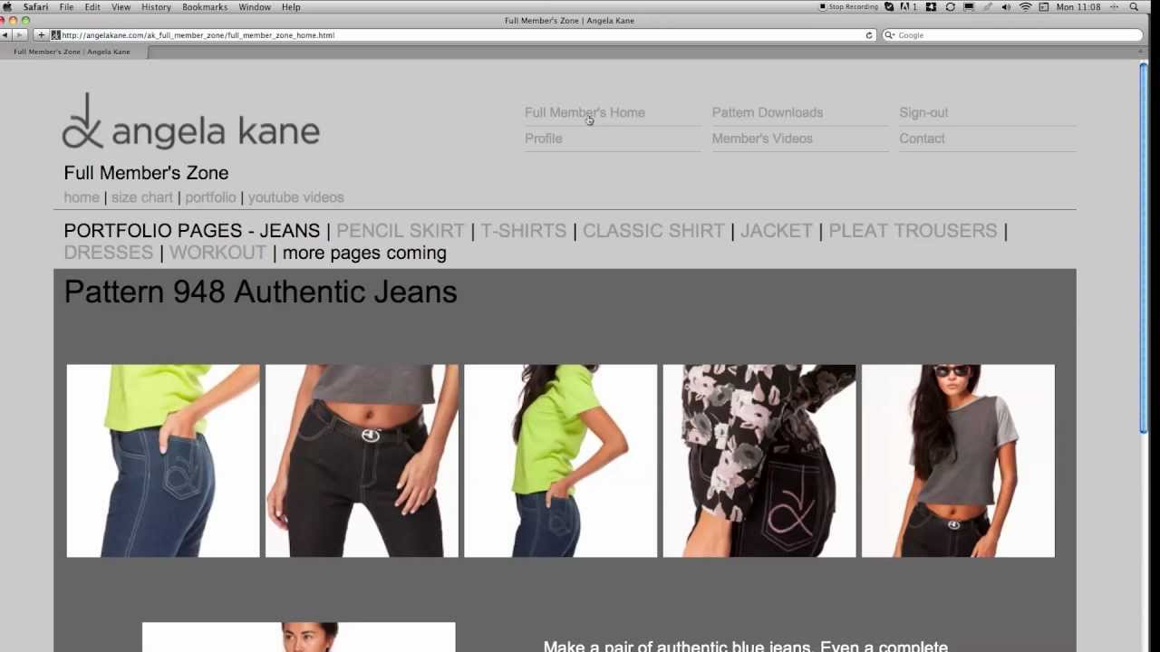 Sewing Patterns Online from Angela Kane - YouTube