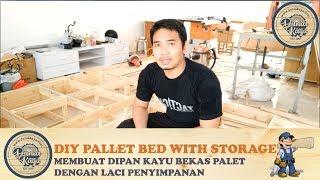 Download Video Cara Membuat Dipan Ranjang Minimalis Kayu Palet dg Laci Penyimpanan DIY PALLET BED FRAME (Part 1) MP3 3GP MP4
