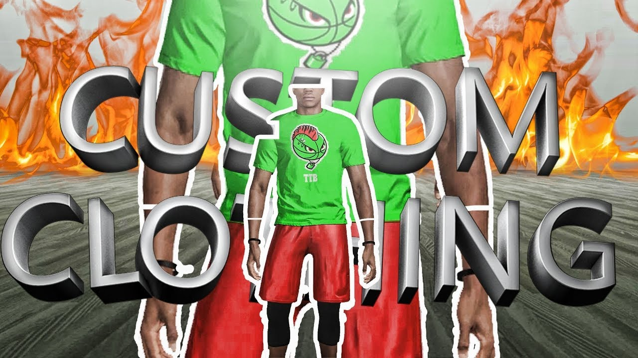 34dc45e6a44 HOW TO GET CUSTOM SHIRTS AND SHORTS ON NBA 2K19 🔥- CREATE YOUR OWN DRIP 💦