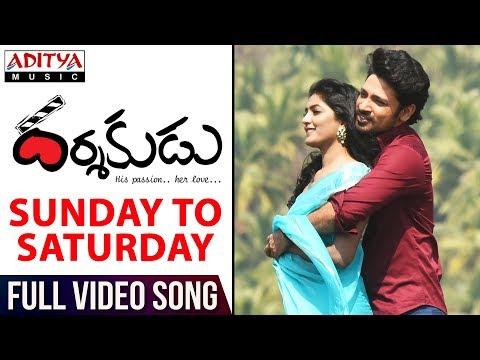 Sunday To Saturday Full Video Song || Darshakudu Full Video Songs ||  Ashok, Eesha