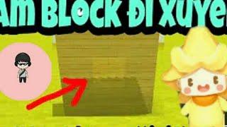 Cách tạo block có thể đi xuyên và bơi trên block