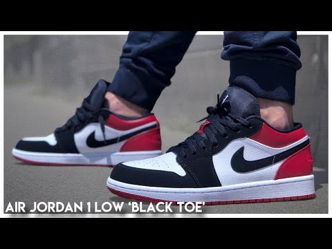 Air Jordan 1 Low 'Black Toe' - YouTube