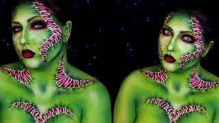 Venus Flytrap Lady Frankenstein Halloween Makeup Tutorial | Jordan Hanz