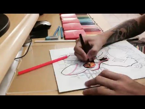 Speed Drawing New school tattoo