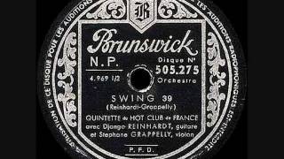 Django Reinhardt - Swing 39 - 1939 March 21 Paris