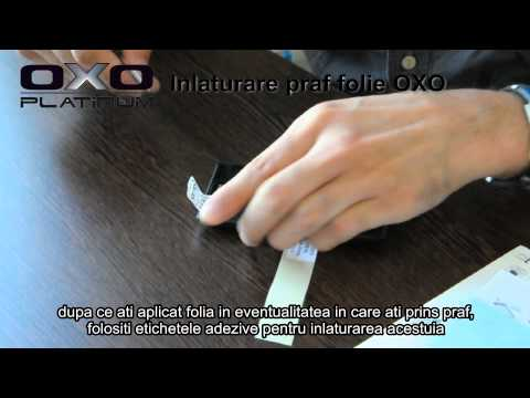 Indepartare praf de sub folie de protectie Oxo Platinum