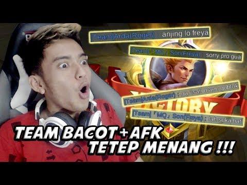 DAPET TEAM ADU BACOT+AFK TETEP MENANG!! - Mobile Legends Indonesia