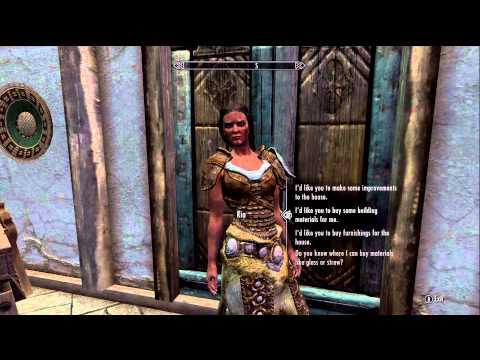 Skyrim Hearthfire - How to Get a Steward for Your House!